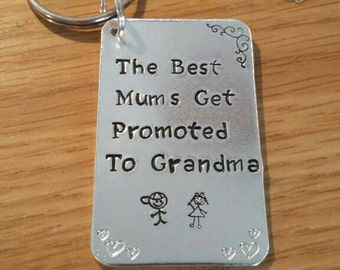 Unique|mothers day|fun|affordable|keyring|hand stamped|present|unusual|for her|quality|quote|Mum|Grandma