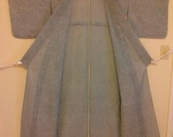Womens's Blue Summer Ro kimono