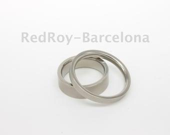 Titanium wedding bands sold as a pair
