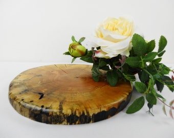 "9.5 -10""Rustic Wood Cake Stand, Wood Slice, Wood Slice Cake Base, Wedding Centerpiece, Rustic Wood Centerpiece"