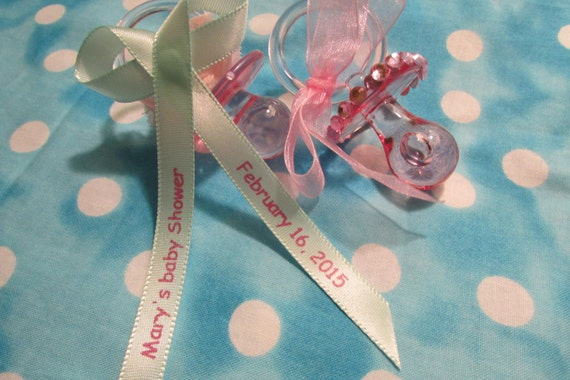 personalized baby shower ribbons 3 8 wide assembled by tutucutsys