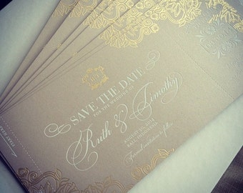 Gatsby Save The Date Cards Wedding, A Set Of 100