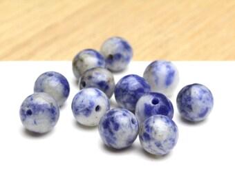 Genuine Sodalite Round Beads 8mm 12pcs