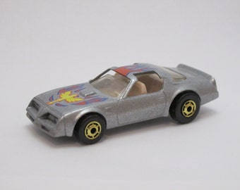 Vintage 1977 Die Cast Diecast Mattel Hot Wheels Hotwheels Silver Hot Bird Toy Car