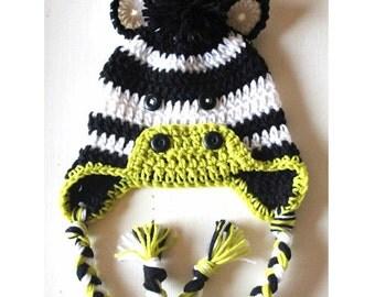 Boy Zebra Hat, Crochet Zebra, Kids Hat, Animal Hat, Boy Hat, Winter Hat, Child Hat, Children Hat, Halloween Hat, Fall Fashion, Photo Prop.