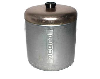 Vintage Flour Canister - Retro Spun Aluminum - 1950s - Lightweight Storage Container