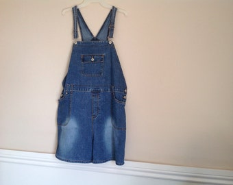 Vintage Bib overalls denim jean short all women's bib overalls men's shortalls salopette femme  dungarees short bib overalls maternity wear