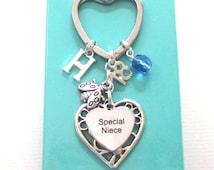 Special Niece gift - 18th birthday gift for niece - Niece keyring - Ladybug keychain - Birthstone keyring for niece - Niece 18th - Etsy UK