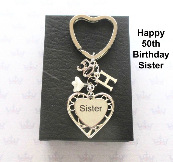 Sister 50th Birthday Gift Keychain Ideas