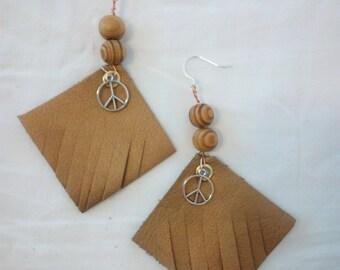 """Earrings """"Indian peace"""""""
