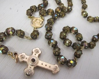 Crystal Rosary Aurora Borealis Rosary Catholic Rosary