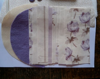 Sew it Yourself Needlecase Kit/Craft Kit/Sewing/Christmas Gift. Lilac