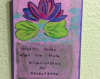 Yoga plaques - Serenity