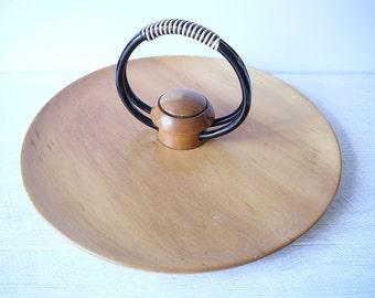 Beautiful Mid Century Wooden Party Platter