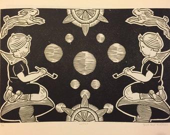 Untitled - Linoleum Block Print