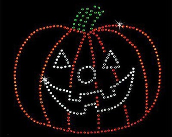Rhinestone Transfer - Hot Fix Motif - Pumpkin