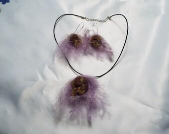 Shrunken Head Necklace & Earrings