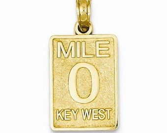Mile 0 Key West Mile Marker Pendant (JC-1098)