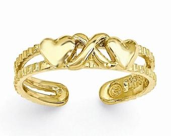 """Hearts & """"X"""" Toe Ring (JC-1074)"""