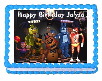 Five Nights at Freddy's FNaF party edible cake image cake topper frosting sheet