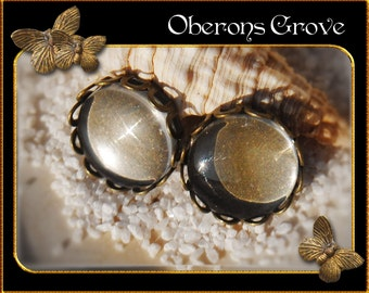 10 bronze settings with 10mm cabochons