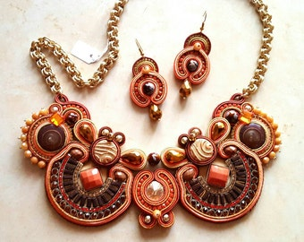 Soutache Necklace OOAK - handmade product made in italy by KIMA