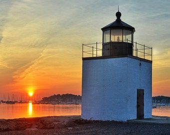 Derby Wharf Lighthouse, Salem, MA, Lighthouse photography, Lighthouse Print, Lighthouse Art, Lighthouse Decor, North Shore