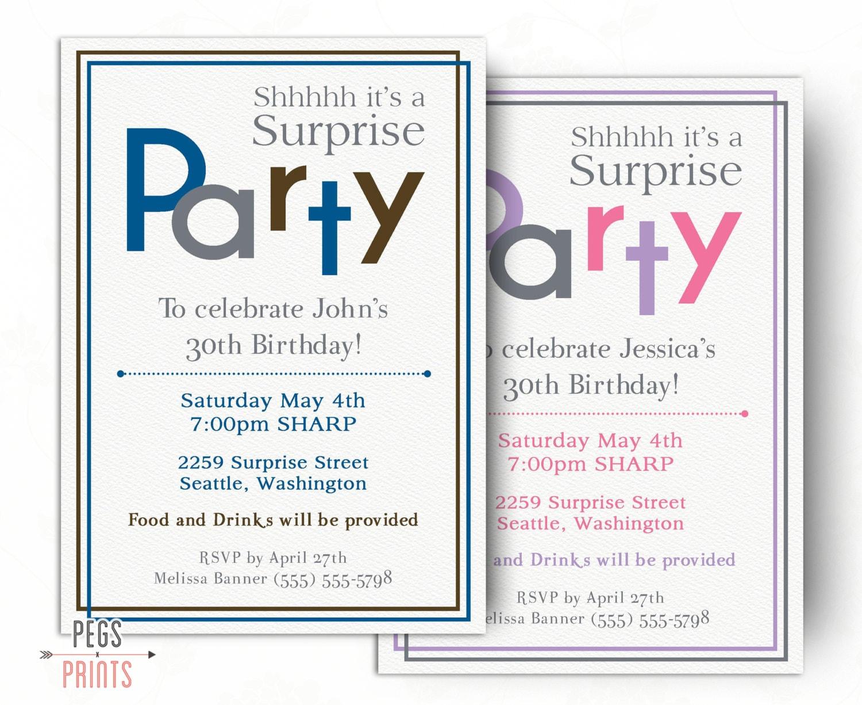 60Th Surprise Birthday Invitations was good invitations template