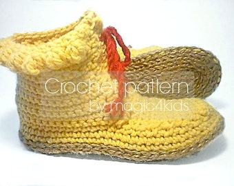 Crochet pattern: women short boots with jute rope soles,5 sizes,soles pattern included,laced up,slippers,loafers,adult,girl,cord,twine