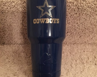 Dallas Cowboys Yeti and Non Yeti Powder Coated Tumblers