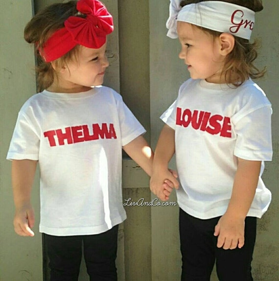 Twin Girl Clothes, Girl Twin Outfits, Cute Twin Girl Outfits, Twin Girl Clothing Baby, One Piece, Bodysuits, Shirts, Thelma and Louise