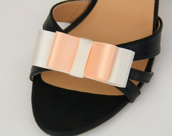 Shoe clips loops satin