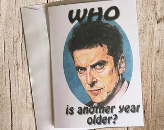 Doctor Who (another year older) birthday card
