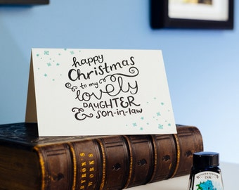 Happy Christmas To My Daughter & Son-in-Law Letterpress Card