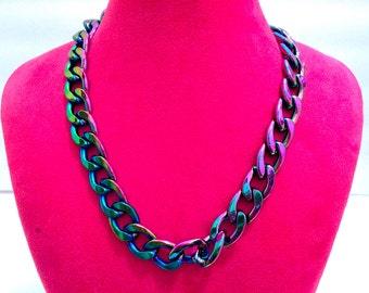RAINBOW CHROME CHAIN Necklace