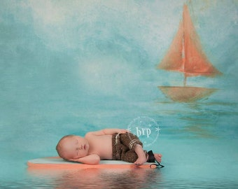 Newborn Baby Photography Prop Surf Board and Beach Chair