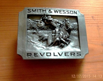 Smith & Wesson Vintage Belt Buckle in 3D