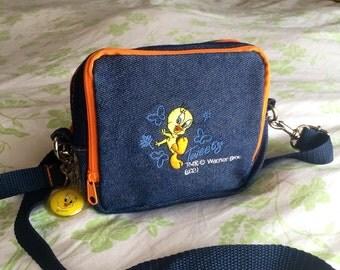 Tweety Bird 90's Denim Side Bag