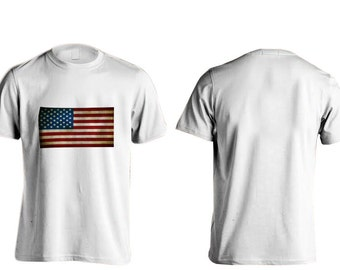 All American Apparal American Flag T-Shirts (Front)