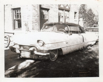 Vintage Polaroid Photo ~ old car
