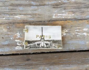 Vintage paris souvener photos, small photography book