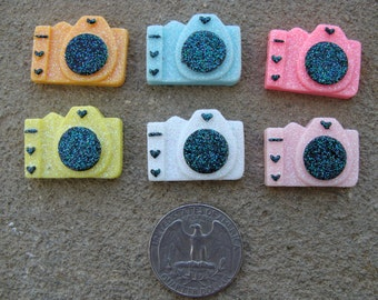 2 resin  Color Cameras resin for hair bow