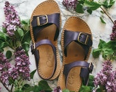 SALE 20% OFF: Customizable Sandals, Wide Foot, Narrow Foot, Sweet Aubergine Sandals, Sandals With Buckle, Women Sandals, Summer Shoes, Handm