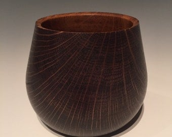 White oak stained bowl/pot
