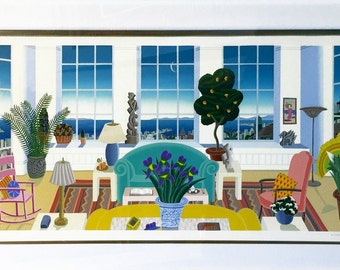 """Thomas McKnight """"Pacific"""" - 1992 - Signed Serigraph - Matted - See Live at GallArt - Buy/Sell/Trade"""
