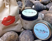 Lavender Lip Balm and Lip Scrub Set Stocking Stuffer Gift, 12 Days of Christmas Day 4.  Merry Kissmas Gift Pack.