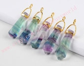 Beautiful Natural Multi-Color Fluorite Faceted Piont Stick Fluorite Faceted Quartz Wand Cutting Gemstone Jewelry G0499