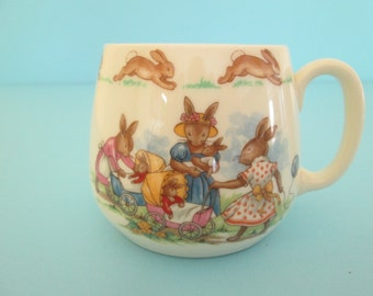 Royal Doulton Bunnykins Dome Cup from the 1970s