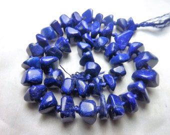 100% Natural Polisshed Tumble Lapis Lazuli Beads Strand Necklace Afghanistan  LP1001