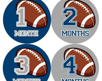 Baby Boy Monthly Baby Stickers Baby Month Stickers Football Stickers Monthly Photo Stickers Monthly Milestone Stickers 1001